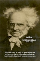 Arthur Schopenhauer on Thinking New Thoughts