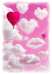 Heart Clouds and Balloon