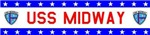 USS Midway Logo Stars & Bars