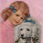 Girl & Poodle - year 1919
