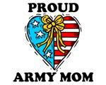 Army Mom Patriotic Heart
