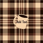 Cup of Coffee plaid dark