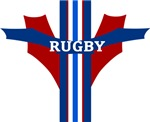 Rugby Red White and Blue