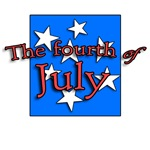 Bright Fourth of July design