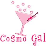 Cosmo Gal! Bubbly Pink Cosmo in a Martini Glass
