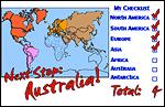 N. America, S. America, Europe, Asia
