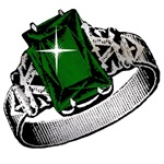 Princess Emerald Ring Bling