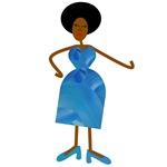 Diva in Blue Dress