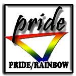 gay pride, gay rainbow, dyke, femme, butch