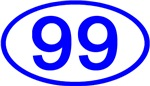 Number Ovals - 50 to 99 (Blue)