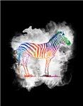 Colorful Zebra in a Cloud