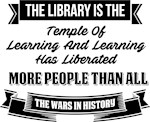 The Library is the Temple of Learning