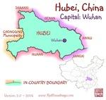 Hubei, China mini Map