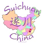Suichuan Color Map, China