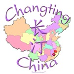 Changting China Color Map