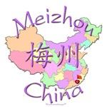 Meizhou China Color Map