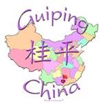 Guiping China Color Map