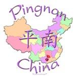 Pingnan China Color Map