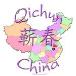 Qichun Color Map, China