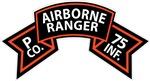 P Co 75th Infantry (Ranger) Scroll