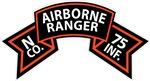 N Co 75th Infantry (Ranger) Scroll