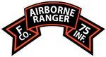 F Co 75th Infantry (Ranger) Scroll