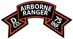 D Co 75th Infantry (Ranger) Scroll