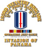 Just Cause - 193rd Infantry Bde  w Svc Ribbons