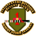 Army - DS - 1st Infantry Div w SVC Ribbons