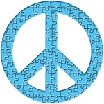 Puzzle Piece Peace Sign