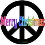 Merry Christmas Black Peace Sign