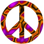 Psychedelic Groovy Peace Sign