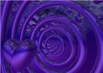 Purple 3D Heart