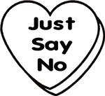 Just Say No Anti-Valetines Conversational Hearts