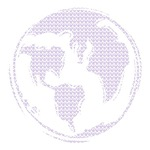 World Peace (purple peace signs)