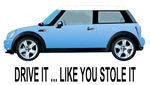 Mini Cooper t-shirts, sweatshirts, magnets, hats, mugs & gifts.
