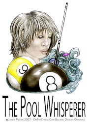 The Pool Whisperer 9 Ball Parody Billiard T-shirts