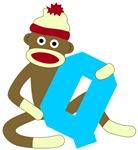 Sock Monkey Monogram Boy Q