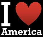 I Love America Dark Tee
