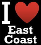 I Love East Coast Dark Tee
