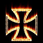 Flames Iron Cross