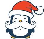 Christmas Penguin Mustache Trend