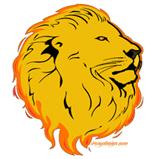 Lion Flame Art