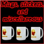 Mugs, Stickers, and Miscellaneous