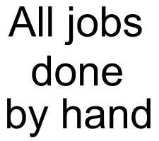 All jobs done by hand