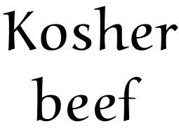 Kosher Beef