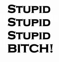 Stupid x 3 Bitch!