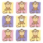 9 Monkeys Pastel