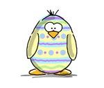 Yellow Easter Egg Penguin