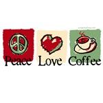 Peace. Love. Coffee.